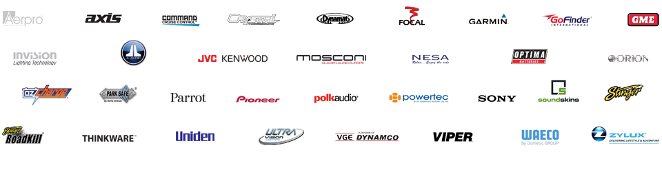 car audio masters preferred supplier logos